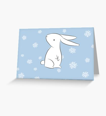 Parsnip the Rabbit - Christmas Version Greeting Card