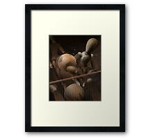 desk top football Framed Print