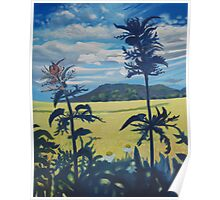 Landscape with nettles Poster