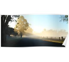 """Misty Morning"" Poster"