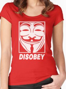 Disobey Anonymous Women's Fitted Scoop T-Shirt