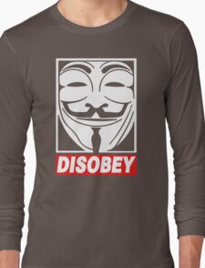 Disobey Anonymous Long Sleeve T-Shirt