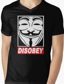 Disobey Anonymous Mens V-Neck T-Shirt