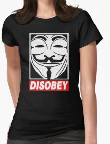 Disobey Anonymous Womens Fitted T-Shirt