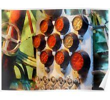 Steampunk - Gauges in Torpedo Room Poster