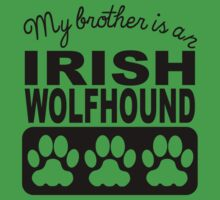 My Brother Is An Irish Wolfhound One Piece - Short Sleeve