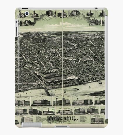Panoramic Maps Haverhill Massachusetts iPad Case/Skin