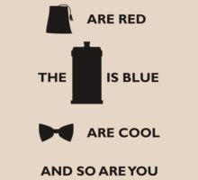Doctor Who T-Shirt Black by SallyDiamonds