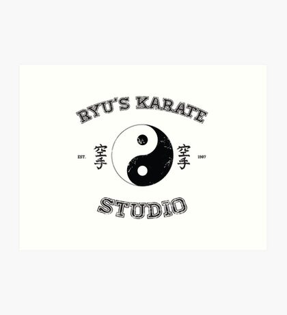 Ryu's Karate Studio Art Print