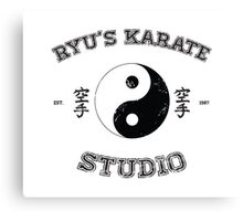Ryu's Karate Studio Canvas Print