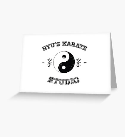 Ryu's Karate Studio Greeting Card