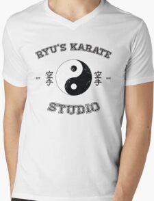 Ryu's Karate Studio Mens V-Neck T-Shirt