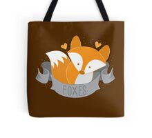 Foxes (LOVE BANNER) Tote Bag