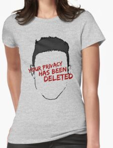 mr robot - your privacy has been deleted Womens Fitted T-Shirt