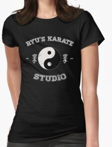Ryu's Karate Studio - Black Version Womens Fitted T-Shirt