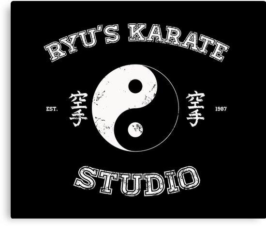 Ryu's Karate Studio - Black Version by tombst0ne