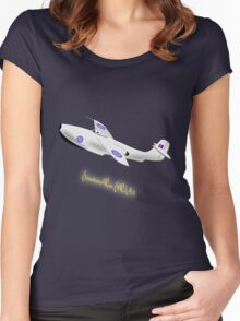 Saunders-Roe SR./A.1 jet powered flying boat 1947 Women's Fitted Scoop T-Shirt