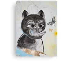 Magik Black Cat and a Butterfly Canvas Print