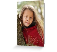 Portrait Of Little Red Greeting Card