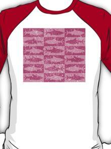 Shark array in pink T-Shirt