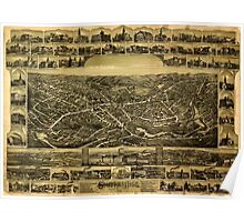 Panoramic Maps Southbridge Massachusetts Poster