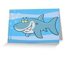 Happy Blue Shark Greeting Card