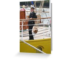 Female Ships Officer Greeting Card
