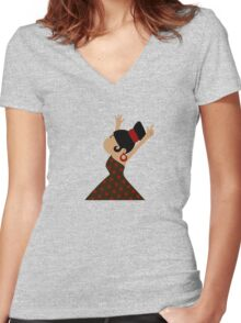Gypsy Girl  Women's Fitted V-Neck T-Shirt