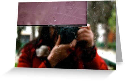 Selfportrait with no brains.... but with an extra heart and a red coat by 1morephoto