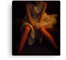 Cropped in Tulle   Canvas Print