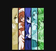 higurashi when they cry rika rena satoko mion shion anime manga shirt Unisex T-Shirt