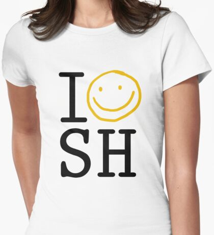 I LOVE SH Womens Fitted T-Shirt