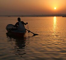 Sunrise on the Ganges by SerenaB