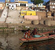 Two Men in a Boat by Nishradraj Ghat by SerenaB