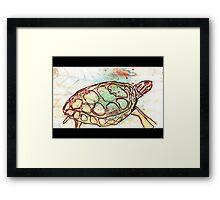 Painted Turtle Framed Print