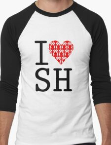 I LOVE SH (Red) Men's Baseball ¾ T-Shirt