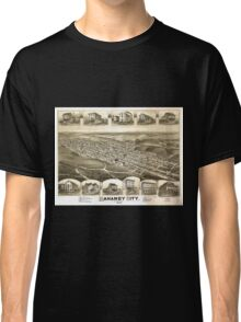 Panoramic Maps Mahanoy City Pennsylvania Classic T-Shirt
