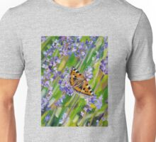Butterfly on Lavender Unisex T-Shirt