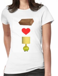 Brick Loves Lamp Womens Fitted T-Shirt
