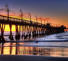 Imperial Beach Pier by Eddie Yerkish