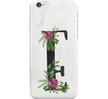 Monogram E with Floral Wreaths iPhone Case/Skin