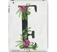 Monogram E with Floral Wreaths iPad Case/Skin