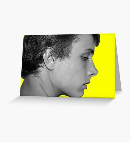 Black and White on Yellow Greeting Card