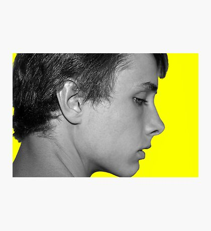 Black and White on Yellow Photographic Print