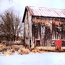 Winter Midwest Barn  by Marcia Rubin