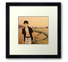 Beach Walking Framed Print