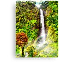 Waterfall - Digital Art Painting Canvas Print