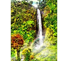 Waterfall - Digital Art Painting Photographic Print