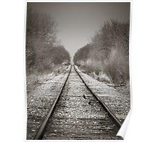 Rural Railroad Tracks Poster