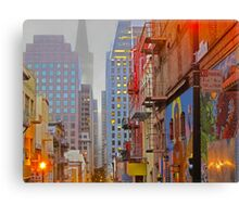 China Town Commercial Street Canvas Print